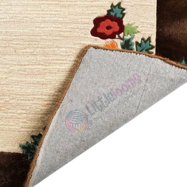 online floral brown carpets, printed bedroom carpets, designer carpets online, brown beige carpets