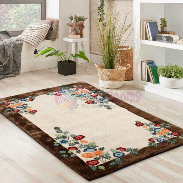 buy brown rugs, brown area rugs online, brown carpets online, floral carpets online, oriental rugs online