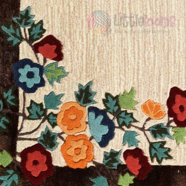 oriental rug, brown bedroom rug, luxury carpet, buy online floral carpets