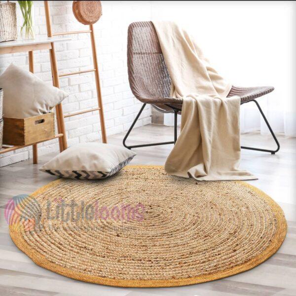 Round Shape Rug, Jute Rugs, Natural Jute Rugs, Buy Rugs Online