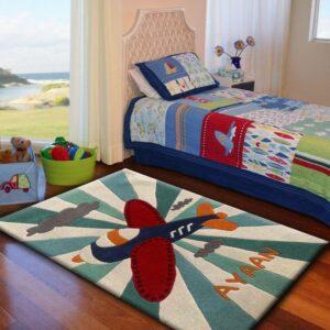 aeroplane plane, rug nursery, rugs kids decor room