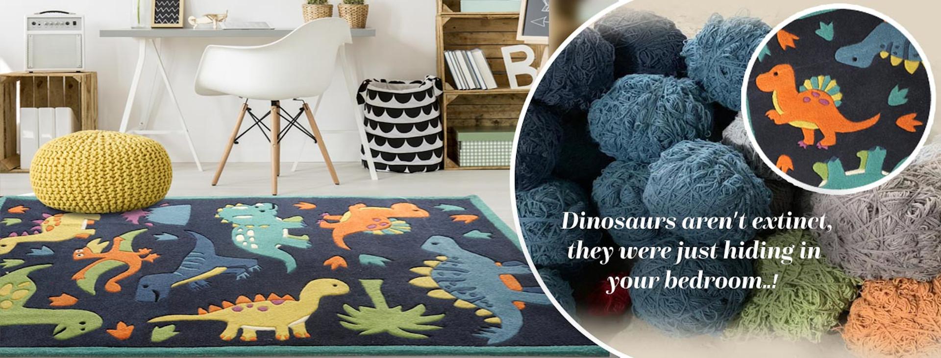 buy kids rugs online, buy kids carpets online, kids Dino rugs, buy Dino rugs, dinosaur rugs, kids room rugs, blue dinosaur rug, boys rugs, littlelooms rugs, hand tufted rugs, handmade rugs